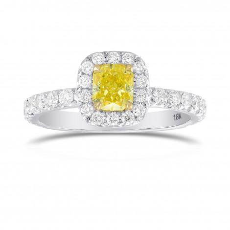 Fancy Intense Yellow Radiant, Queens Halo Diamond Ring, SKU 319606 (1.27Ct TW)