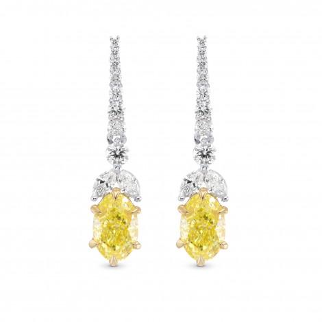 Fancy Intense Yellow Diamond Drop Earrings, SKU 320700 (2.72Ct TW)