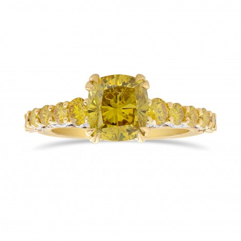 Fancy Deep Brownish Yellow  Radiant Side Stone Ring, ARTIKELNUMMER 325917 (2,88 Karat TW)