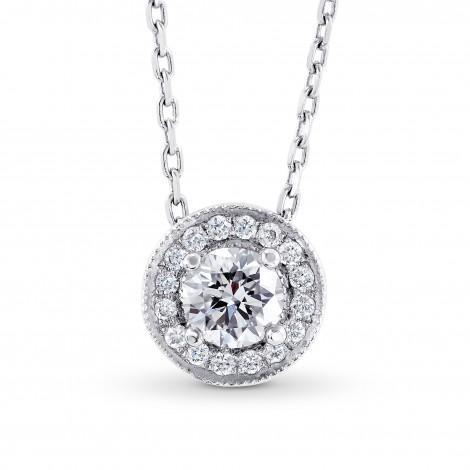 Collection White Round Brilliant Diamond Halo Pendant, SKU 33330 (0.41Ct TW)