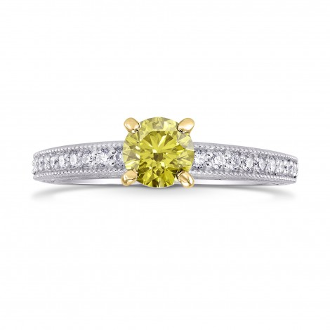 Vintage Style Solitaire & Pave Ring Setting, SKU 3503S