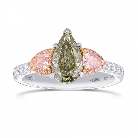 Chameleon and Pink Diamond Three Stone Ring, SKU 366723 (1.70Ct TW)