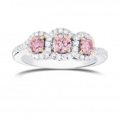 Argyle Fancy Pink Diamond 3 Stone Ring, ARTIKELNUMMER 366724 (0,96 Karat TW)