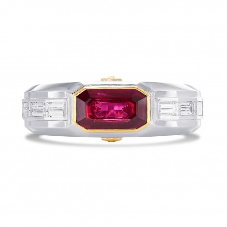 Pigeon Blood Red Ruby Mens Couture Ring, SKU 369721 (2.57Ct TW)