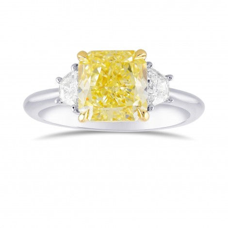 Fancy Yellow Radiant Diamond 3 Stone Ring, ARTIKELNUMMER 372930 (2,34 Karat TW)