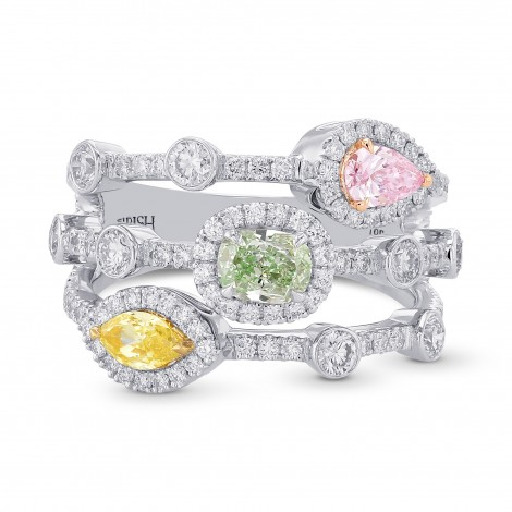Extraordinary Mix Color and Shape Diamond Ring, SKU 373381 (1.82Ct TW)