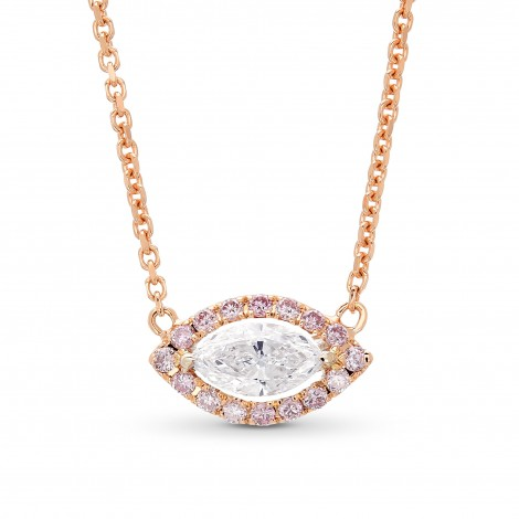 Collection Marquise and Fancy Pink Diamond Halo Pendant, SKU 373960 (0.35Ct TW)