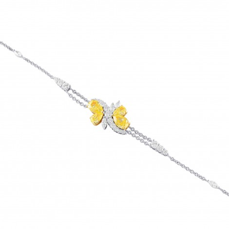 Fancy Intense Yellow Pear shape Diamond Couture Bracelet, SKU 381613 (2.41Ct TW)