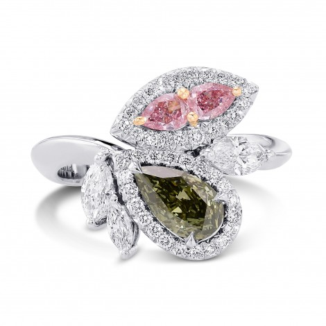 Asymmetrical Couture Color Diamond Ring, SKU 383466 (1.61Ct TW)