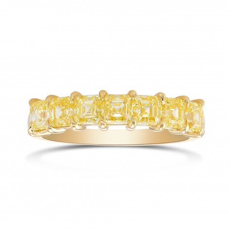 Fancy Intense Yellow Asscher Diamond Band Ring, ARTIKELNUMMER 390290 (1,76 Karat TW)
