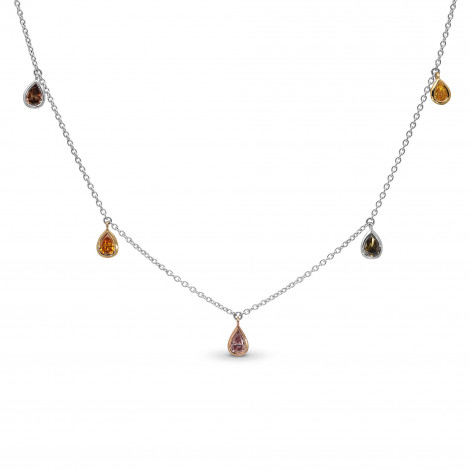 Mix Shape & Mix Color Diamond Necklace, SKU 397175 (0.88Ct TW)