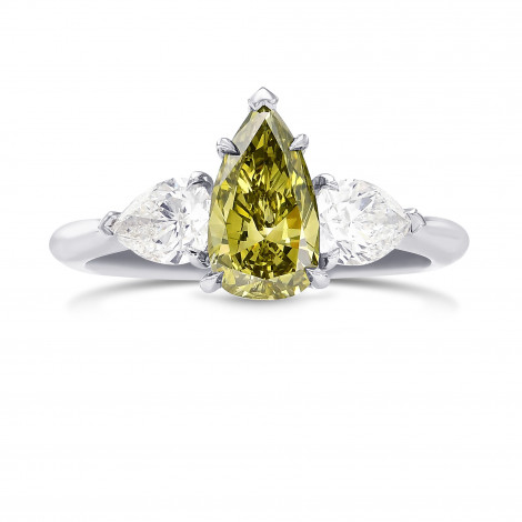 Chameleon Pear Shape and Collection Diamonds 3 stone Ring, SKU 397471 (1.89Ct TW)