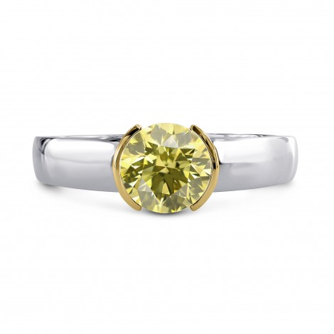 Half-Bezel Solitaire Ring Setting, SKU 40035S