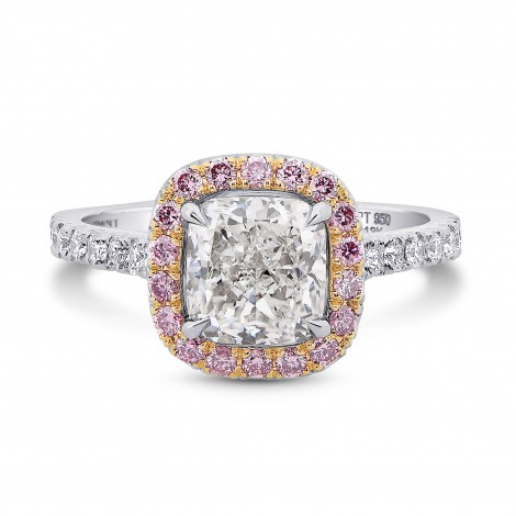 Halo Ring Setting with Fancy Pink Diamonds, SKU 40099S