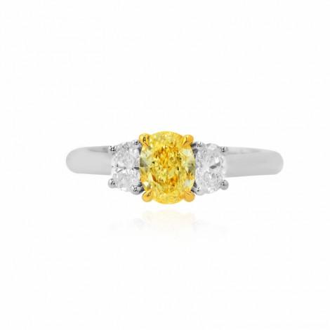 3 Stone Oval Diamond Ring Setting, SKU 40206S