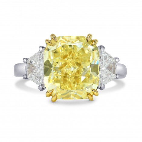 Large 3 Stone Ring Setting with Trapezoid Diamonds, SKU 40225S