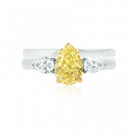 Engagement 3 Stone Pear & Wedding Ring Setting, SKU 40397WS