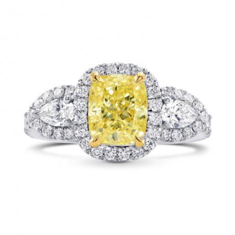 Halo & Pear Diamond Side-stone Ring Setting, SKU 40402S