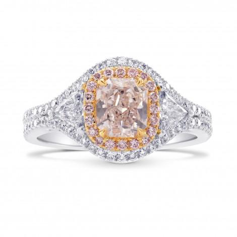 Faint Pink Radiant & Triangle Diamond Ring, SKU 40412S