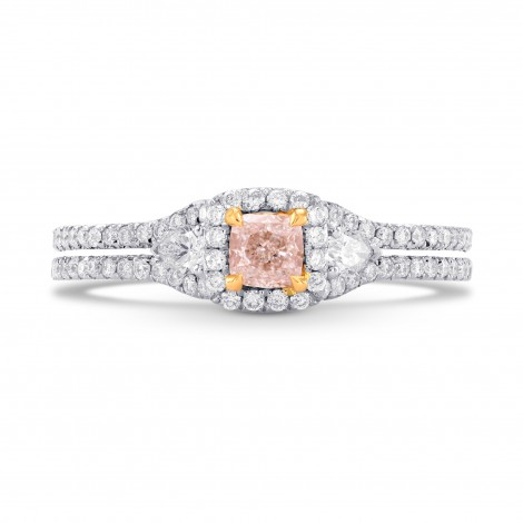Halo, Pear & Pink Diamond Ring Setting, SKU 40438S