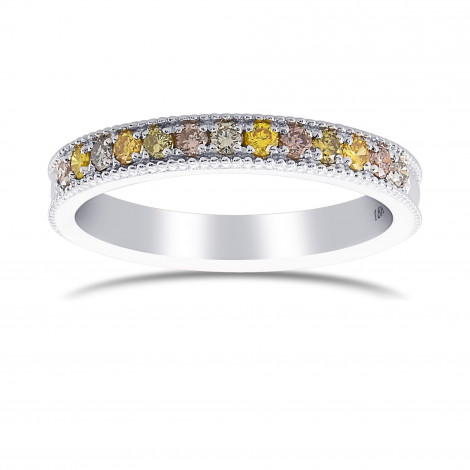 Milgrain Multicolored Diamond Stackable Band Ring, SKU 427478 (0.26Ct TW)