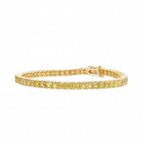 Fancy Yellow Radiant Diamond Tennis Bracelet, SKU 427702 (11.58Ct TW)