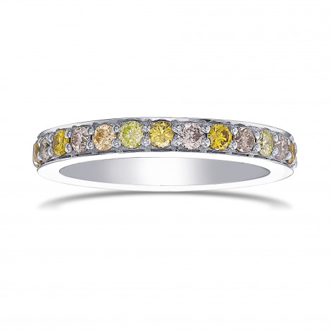 Multicolored Closed Pave Diamond Band Ring, SKU 432480 (0.47Ct TW)