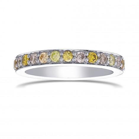 Multicolored Closed Pave Diamond Band Ring, ARTIKELNUMMER 432480 (0,47 Karat TW)