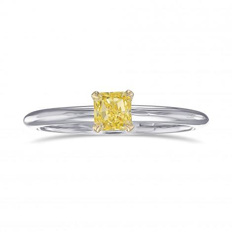 Fancy Intense Yellow Radiant Solitaire Ring, ARTIKELNUMMER 443630 (0,37 Karat)