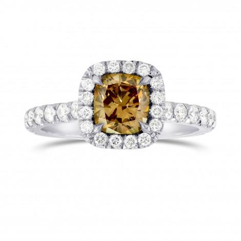Fancy Dark Yellowish Brown Diamond Halo Ring, SKU 46531 (1.64Ct TW)