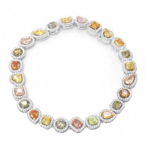 Multicolored Diamond Halo Bracelet, SKU 51199 (11.59Ct TW)