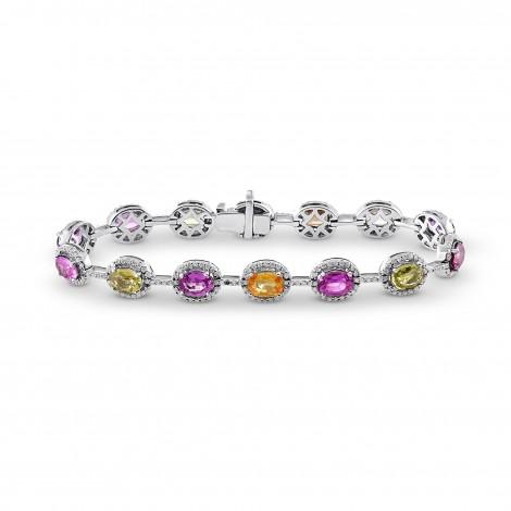 Multicolored No Heat Sri Lanka Sapphire Bracelet, SKU 64511 (15.16Ct TW)