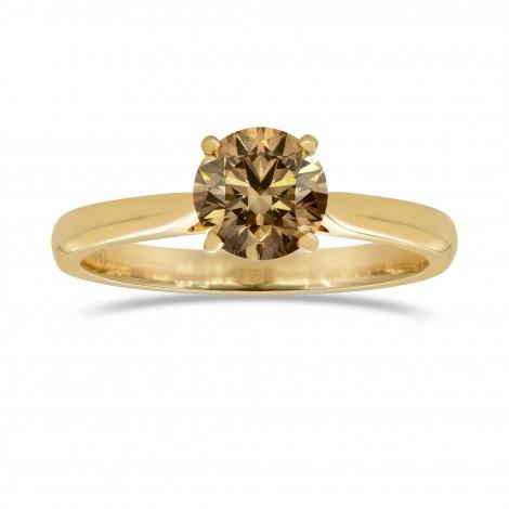 Fancy Dark Orange Brown Diamond Solitaire engagement ring, SKU 67456 (1.13Ct)