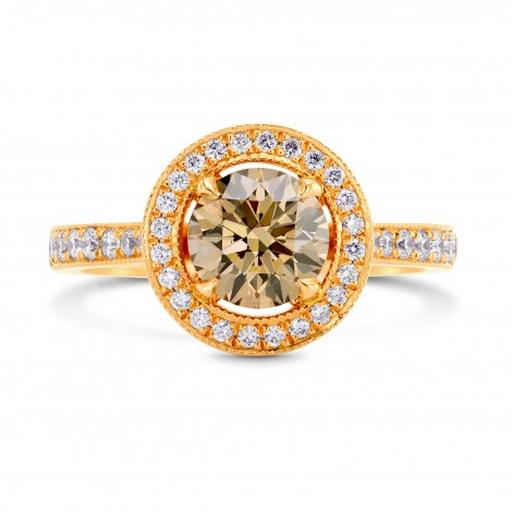 Fancy Yellowish Brown Diamond Halo Engagement Ring, ARTIKELNUMMER 71749 (1,61 Karat TW)