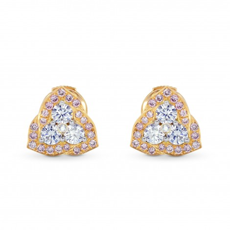 Fancy Pink and White Diamond Pave set Earrings, ARTIKELNUMMER 71819 (0,63 Karat TW)