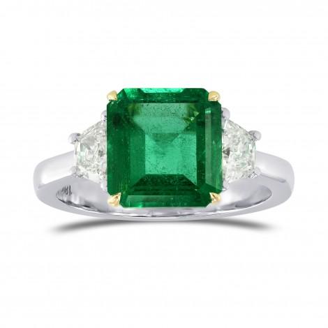 Emerald Gemstone & Trapezoid Diamond Ring, SKU 77973 (2.81Ct TW)