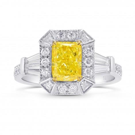 Fancy Intense Yellow Radiant Diamond Ring, SKU 82347 (1.97Ct TW)
