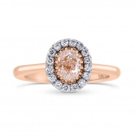 Oval Light Brown Pink Diamond Halo Ring, SKU 82668 (0.68Ct TW)