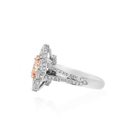 Fancy Light Pink Marquise Diamond Ring, SKU 90226 (1.34Ct TW)