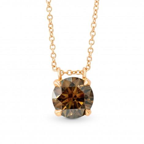 Fancy Brown Round Diamond Pendant, ARTIKELNUMMER 91272 (1,41 Karat)