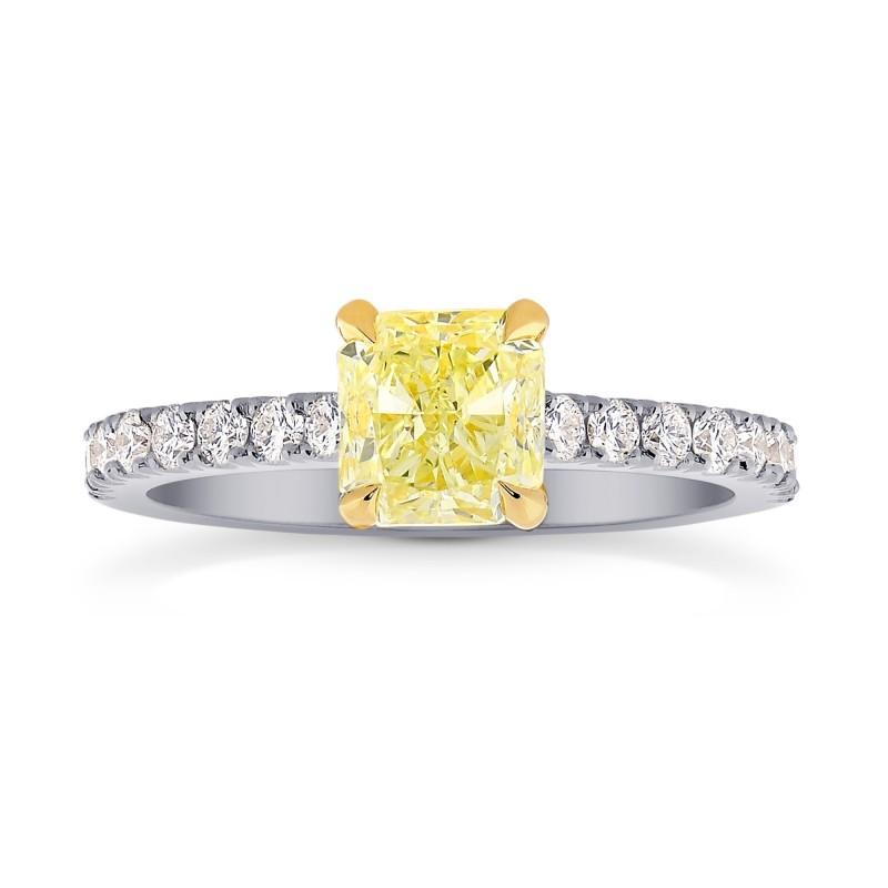 Four Prong Cushion Diamond & Pave Ring Setting, SKU 1132S