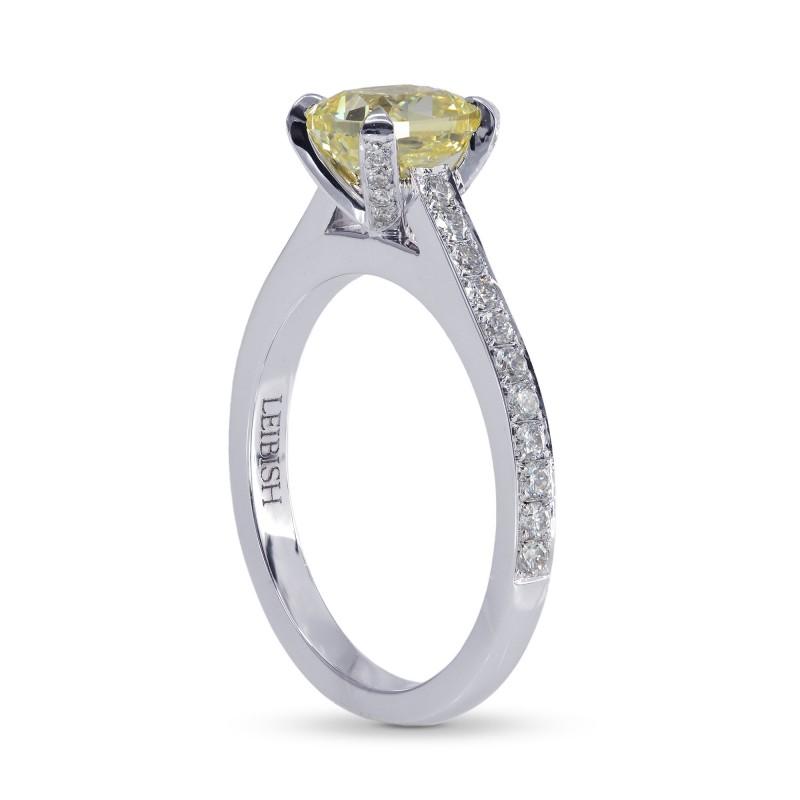 Fancy Yellow Cushion Diamond Ring, SKU 152224 (1.84Ct TW)