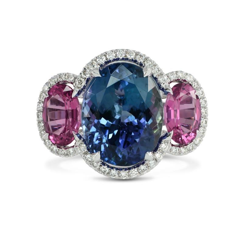 Natural Tanzanite & Spinel Diamond Ring, SKU 153804 (6.79Ct TW)