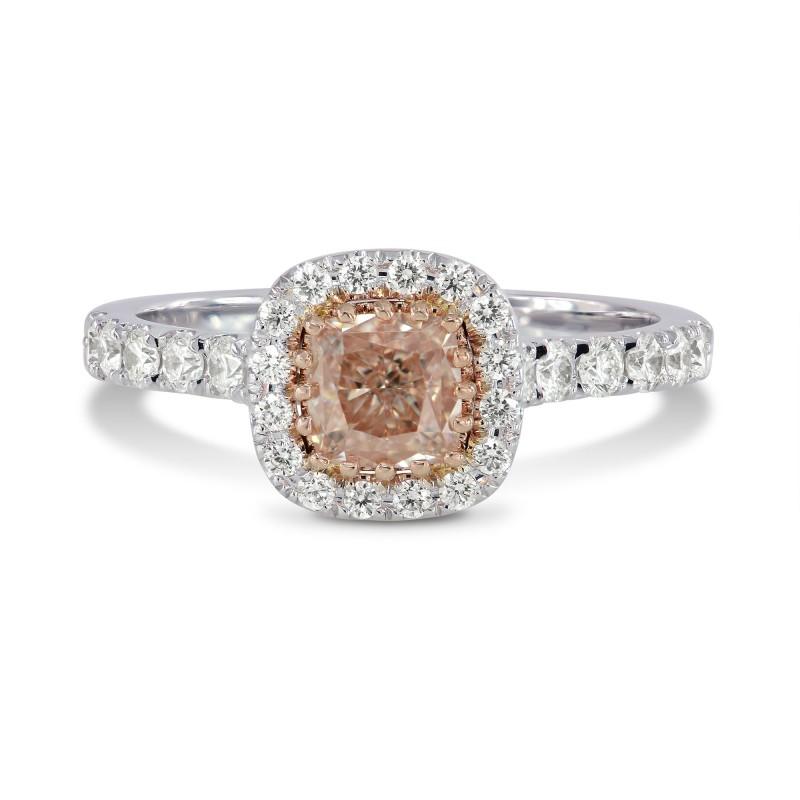 Fancy Light Pinkish Brown Cushion Diamond Ring, SKU 158971 (0.92Ct TW)