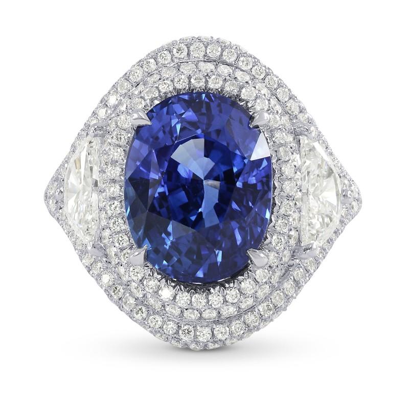 Platinum 6.66 Carat Oval Sapphire & Diamond Ring, SKU 159081 (8.23Ct TW)