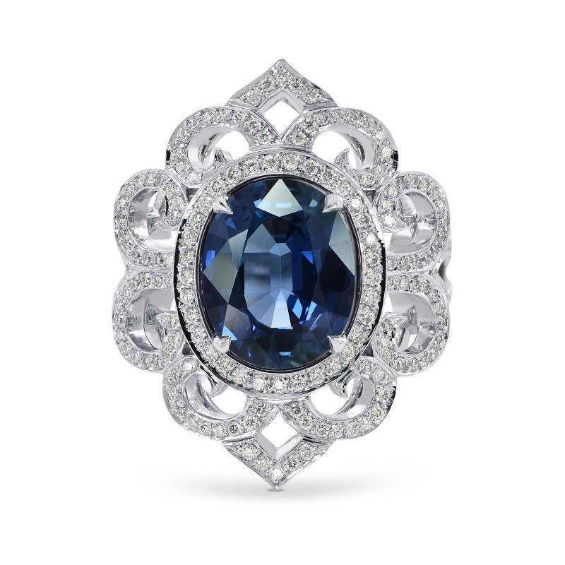 product white diamond jewelry in tanary sapphire gold ring and