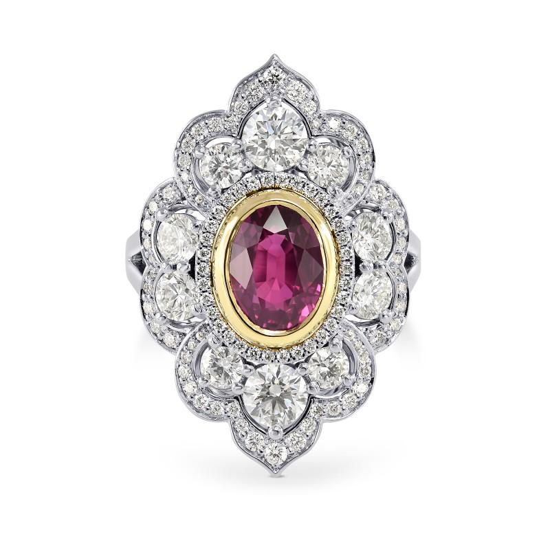 Ruby & Diamond Designer Couture Ring, SKU 163998 (3.84Ct TW)