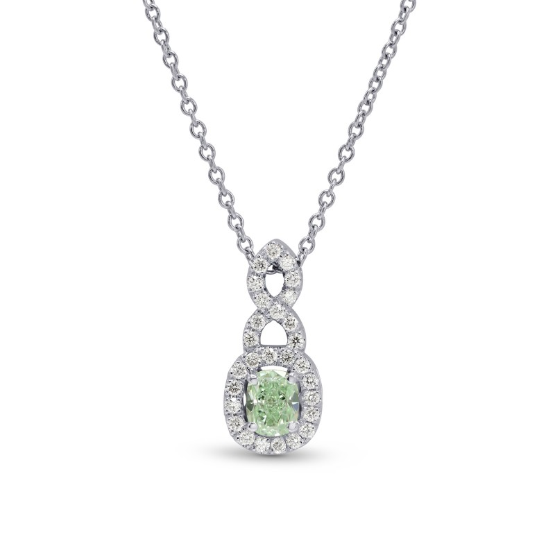 Fancy Green Cushion Diamond Pendant, SKU 168019 (0.43Ct TW)