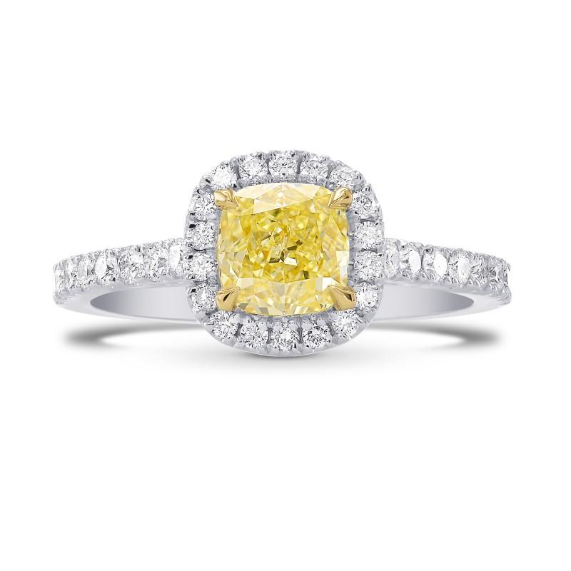 9.86 Carat Yellow Contemporary Halo Diamond Ring by Leibish