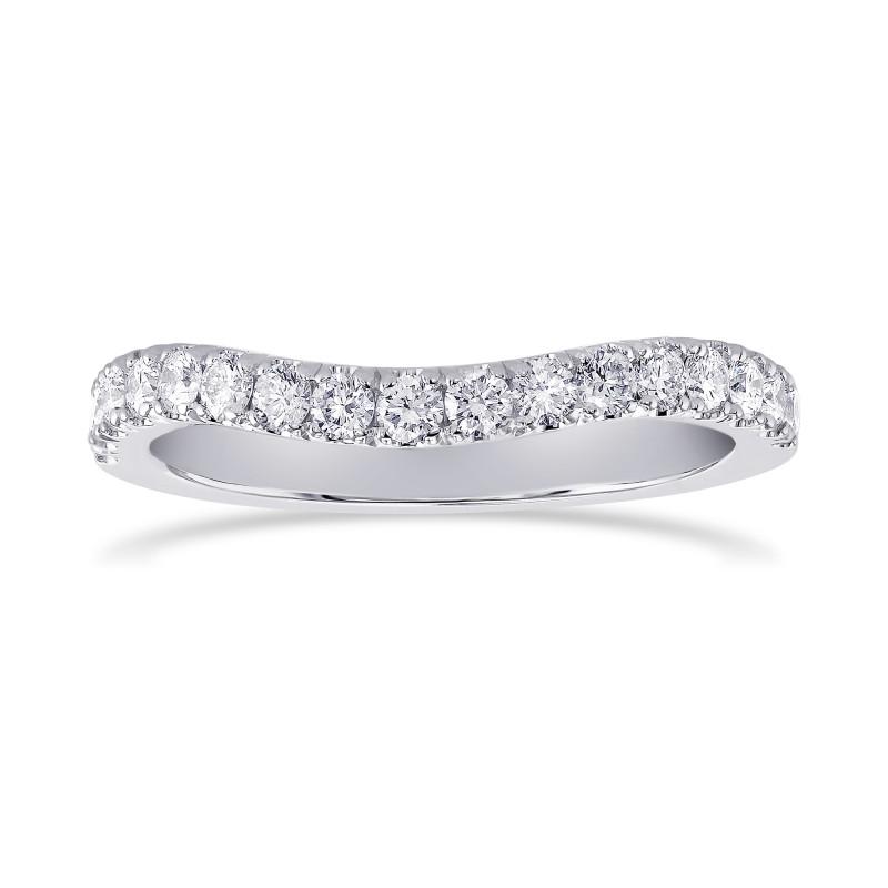 Contoured Open Pave Diamond Wedding Band, ARTIKELNUMMER 24920R (0,40 Karat TW)